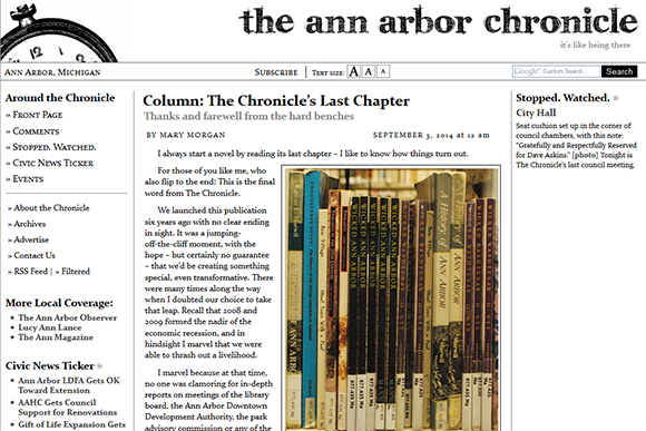 The Ann Arbor Chronicle