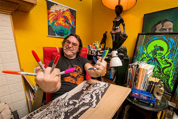 Jeremy Wheeler at his drawing board