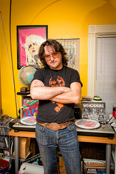 Jeremy Wheeler with his turntables