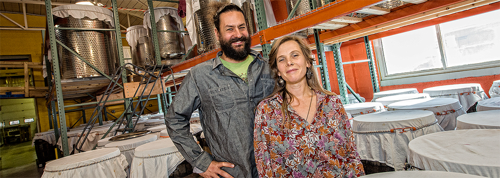 -Tarek and Rachel Kanaan at the Unity Vibration Brewery and soon to be tasting room - Ypsilanti