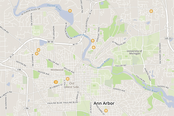 Little Library Map of Ann Arbor