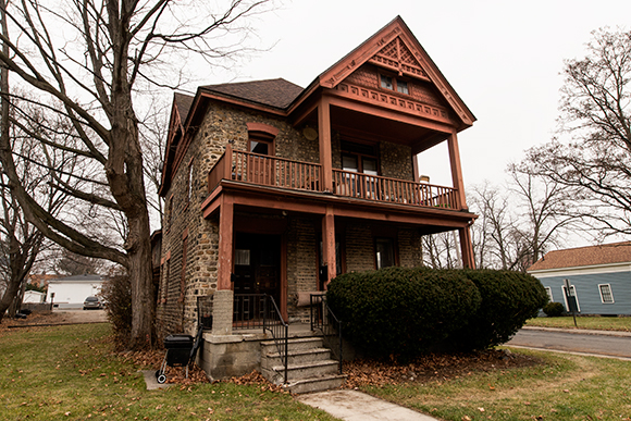 An historic 1800's home in Ypsilanti divided into apartments