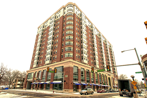 The Landmark development in downtown Ann Arbor