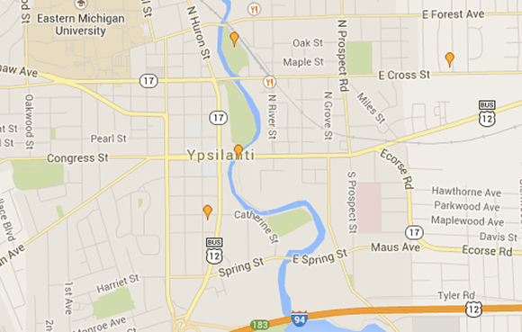 Little Library Map of Ypsilanti