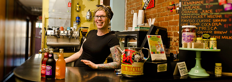 Beezy's Cafe owner Bee Roll in her downtown Ypsilanti restaurant
