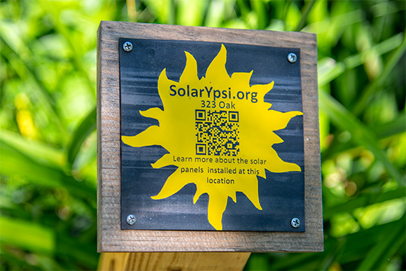 QR codes for the Ypsilanti Solar tour