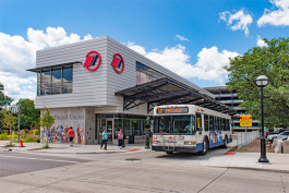AAATA Blake Transit Center in downtown Ann Arbor