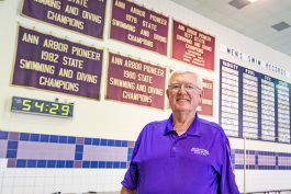 Ann Arbor Swim Coach legend Denny Hill