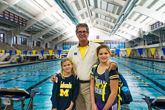 mike bottom swim coach Heard finished