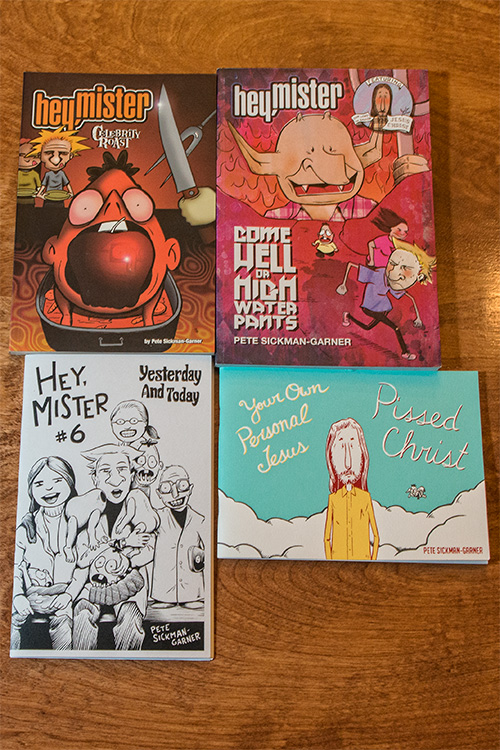 Some of Pete Sickman-Garner's comics