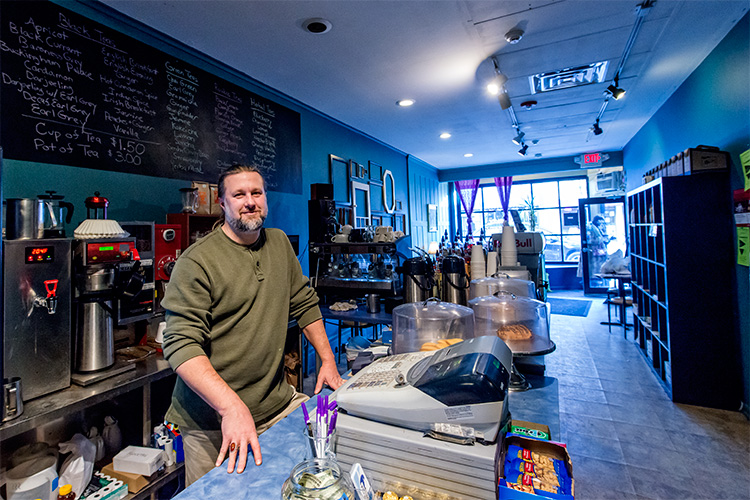 Elixir Vitae owner Ed Renollet at the Liberty Street location