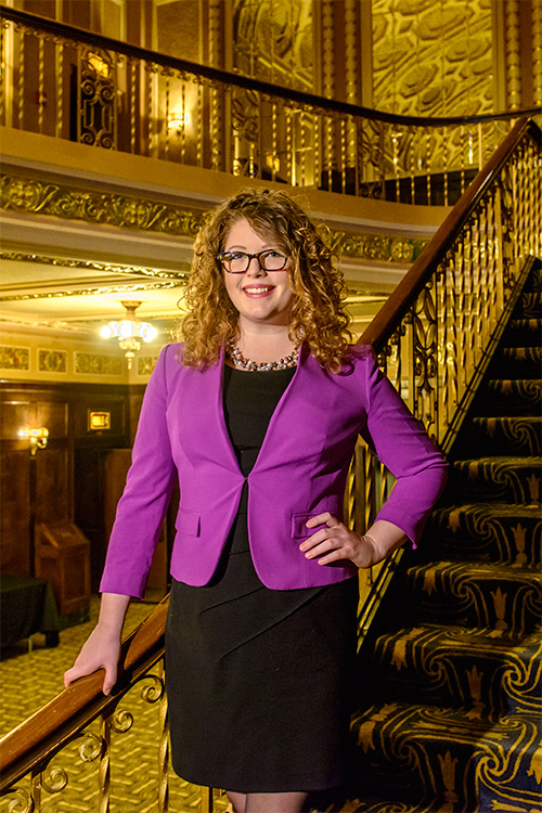 Ann Arbor Symphony Orchestra Marketing Director Emily Fromm at The Michigan Theater