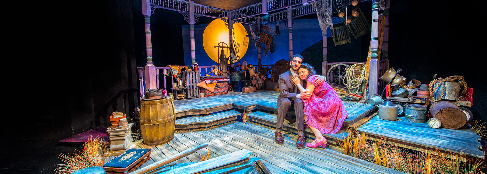 Rob Najarian and Aphrodite Nikolovski in Talley's Folly at The Purple Rose Theatre Company - Chelsea
