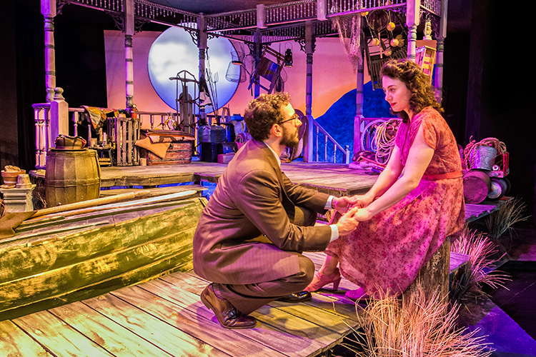 Rob Najarian and Aphrodite Nikolovski in Talley's Folly at The Purple Rose Theatre Company