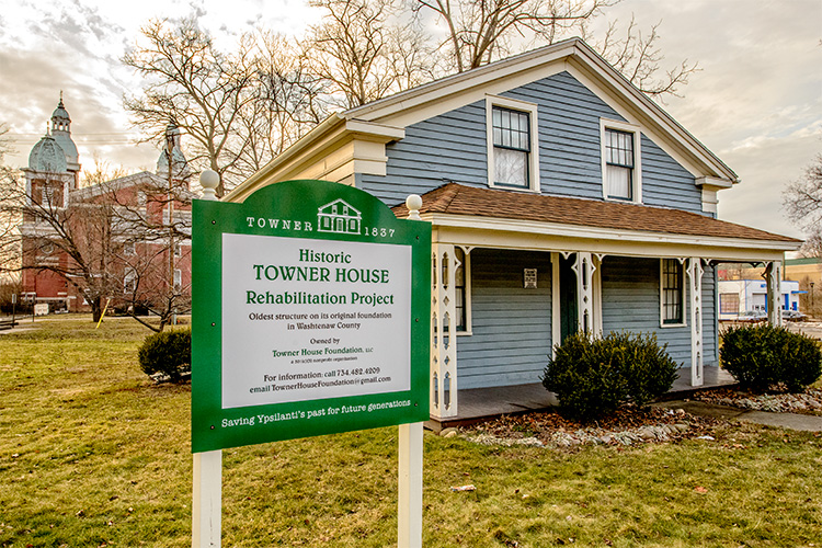Towner House in Ypsilanti - Washtenaw County's oldest structure on it's original foundation