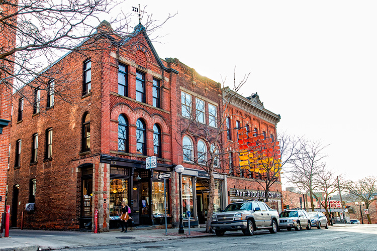 The Main Street Historic District in Ann Arbor