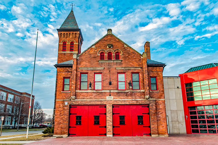 The old firehouse in the Ypsilanti Historic District