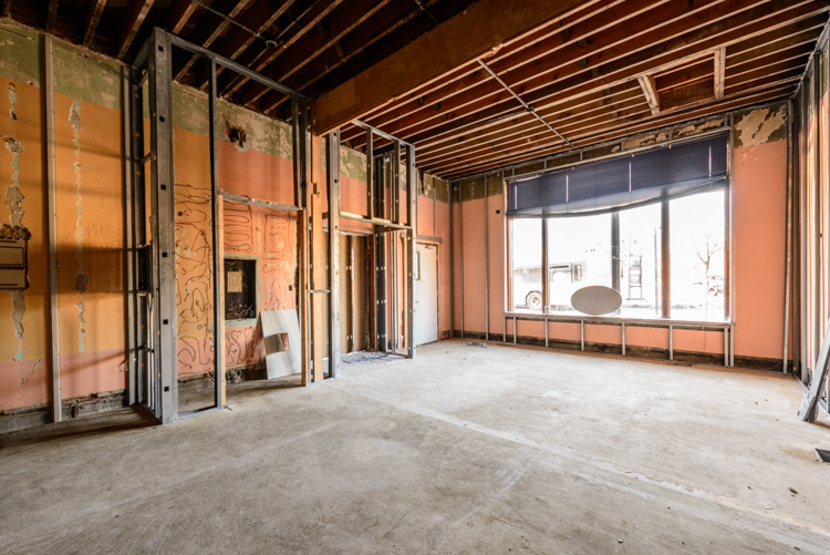 The potential future home of a bar or restaurant on the ground floor of 209 Pearl Street
