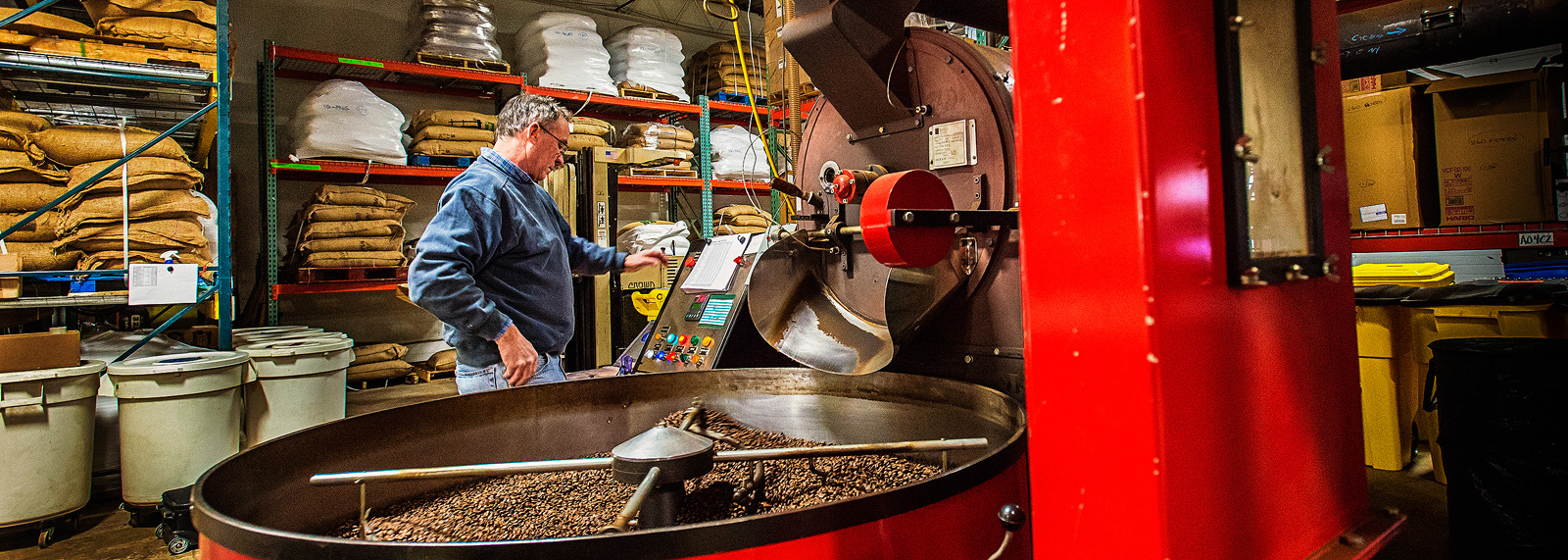Coffee roasting at Zingerman's Coffee Company