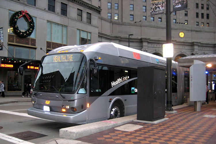 The Healthline BRT in Cleveland