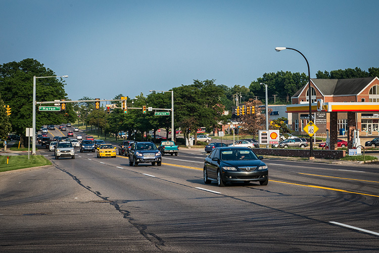 Washtenaw Avenue during rush hour