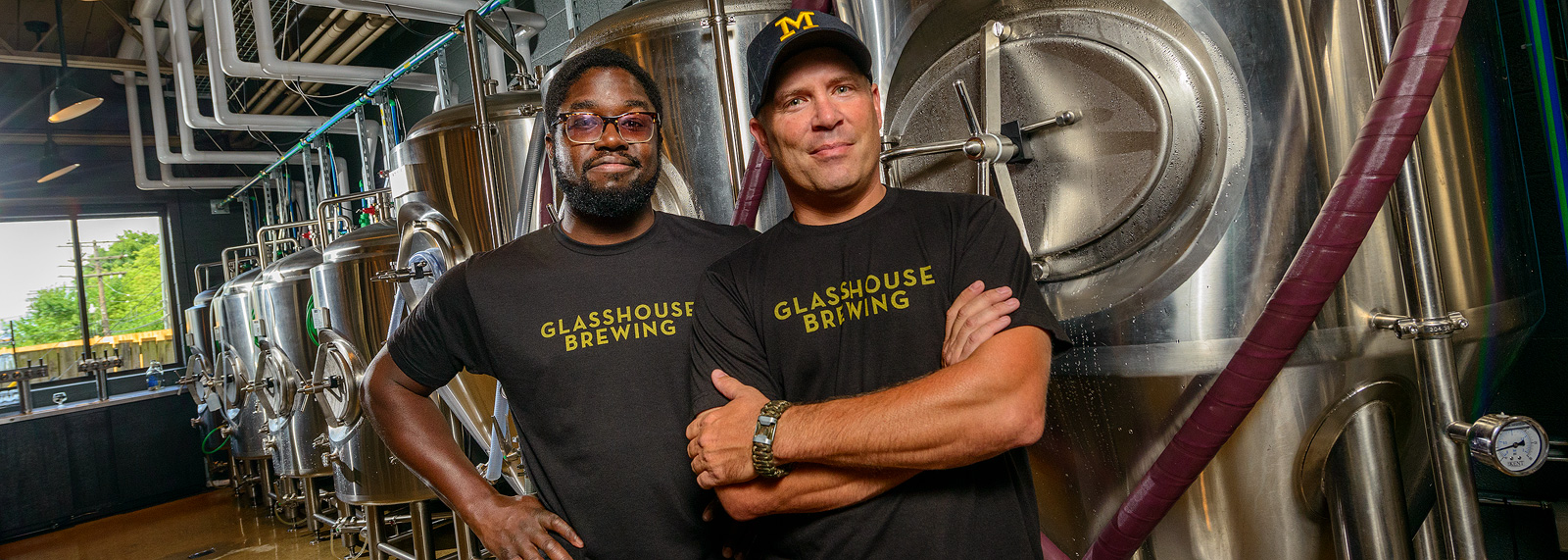 Kuma Ofori-Mensa and Brent Payeur at Glasshouse Brewing