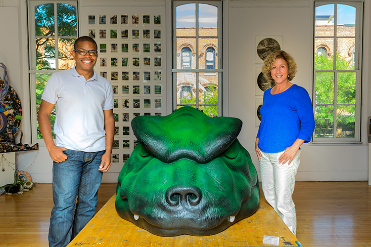 Omari Rush and Marie Klopf at the Ann Arbor Art Center