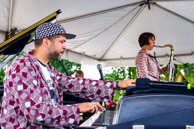 Jason Moran performing at Falling Up and Getting Down