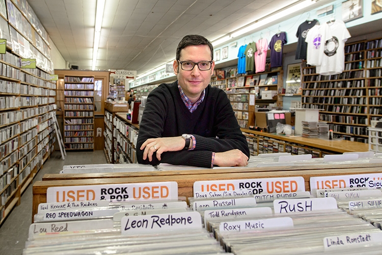 University Musical Society senior programming manager Mark Jacobson at Encore Records
