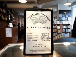 A bag of Literati Coffee.