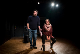 David Widmayer and Shelly Smith of the Civic Improv Ensemble