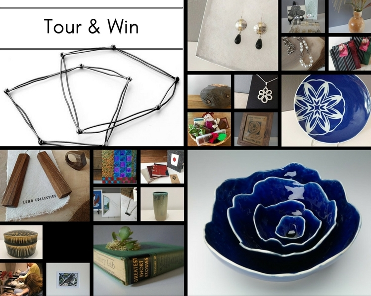 A selection of prizes available to Winter Art Tour participants.