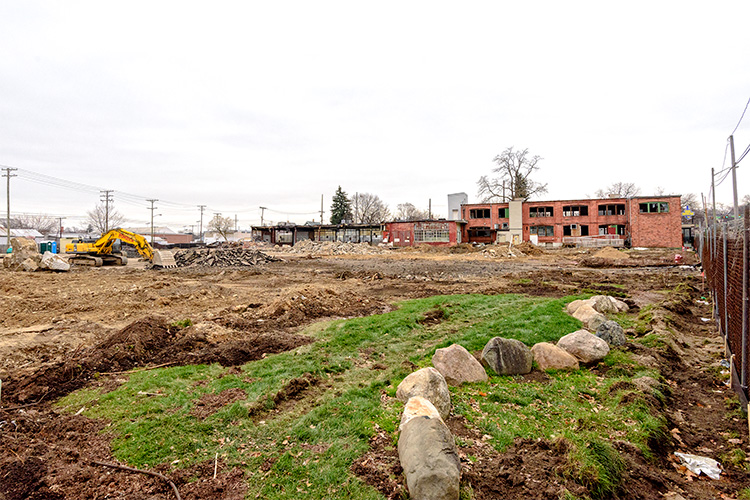 The future site of The Residences at 615 South Main