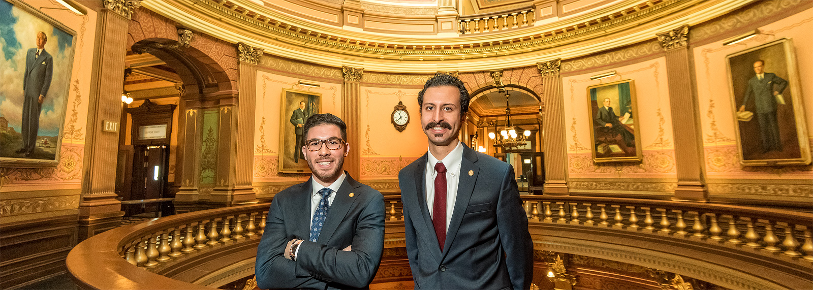 Abdullah Hammoud and Yousef Rabhi at the Michigan State Capitol