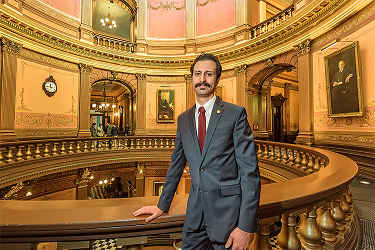 Yousef Rabhi at the Michigan State Capitol