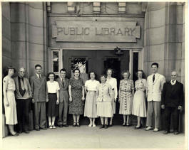Librarians at Ann Arbor's Carnegie library.