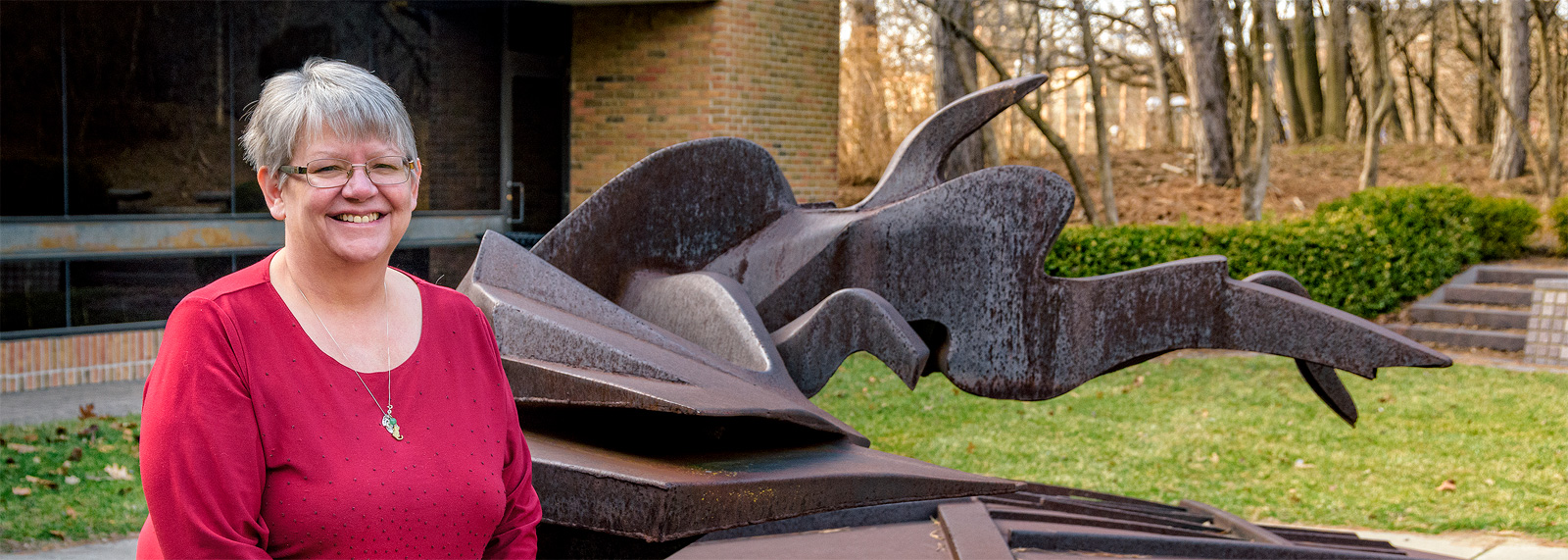 Deb Anderson at the Bentely Historical Library <span class='image-credits'>Doug Coombe</span>