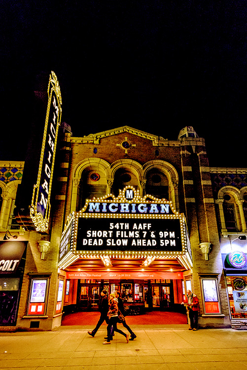 The Michigan Theater during last year's Ann Arbor Film Festival