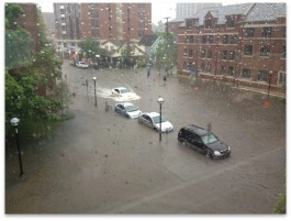 Flooding in Ann Arbor in June 2013.