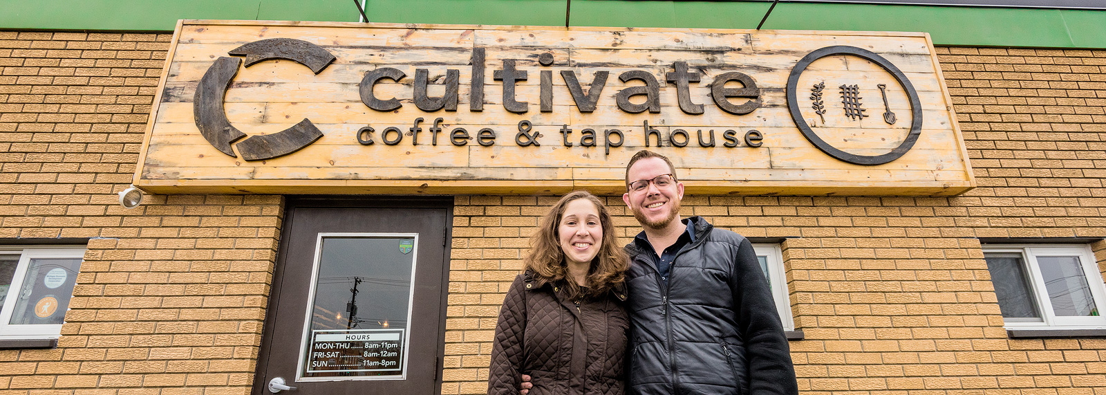 Bekah and Ryan Wallace at Cultivate Coffee and Tap House <span class='image-credits'>Doug Coombe</span>