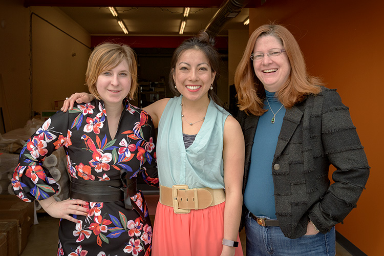 Larrea Young, Grace Hsia and Sue Dean of Warmilu