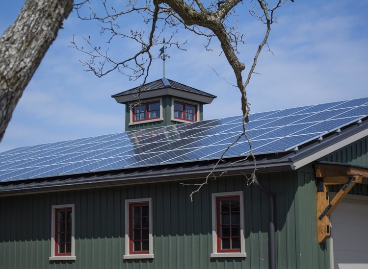 The solar roof at Burh Becc at Beacon Springs.