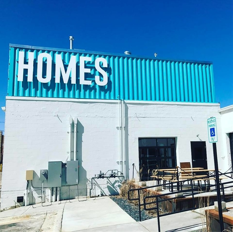 The exterior of HOMES Brewery.