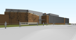 Design rendering of the renovated Strong Hall.