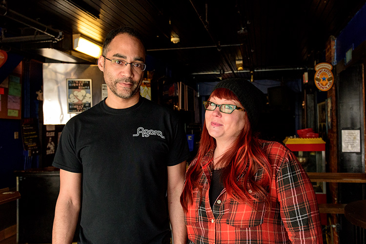 Blind Pig Talent Buyer Jason Berry with Blind Pig General Manager Faith Wood