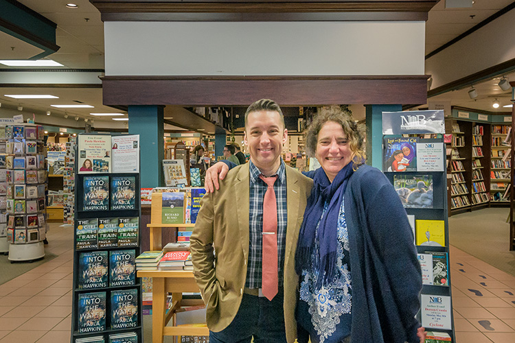 Drew Waller and Lynn Riehl at Nicola's Books