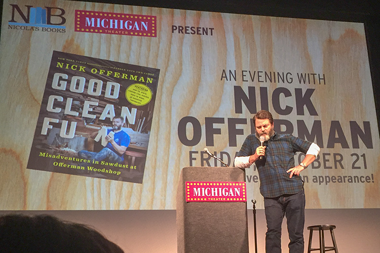 Nick Offerman at The Michigan Theater - photo by Annette Janik