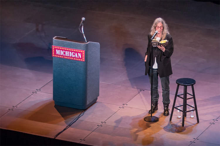 Patti Smith at the Michigan Theater - photo by Ethan Holt