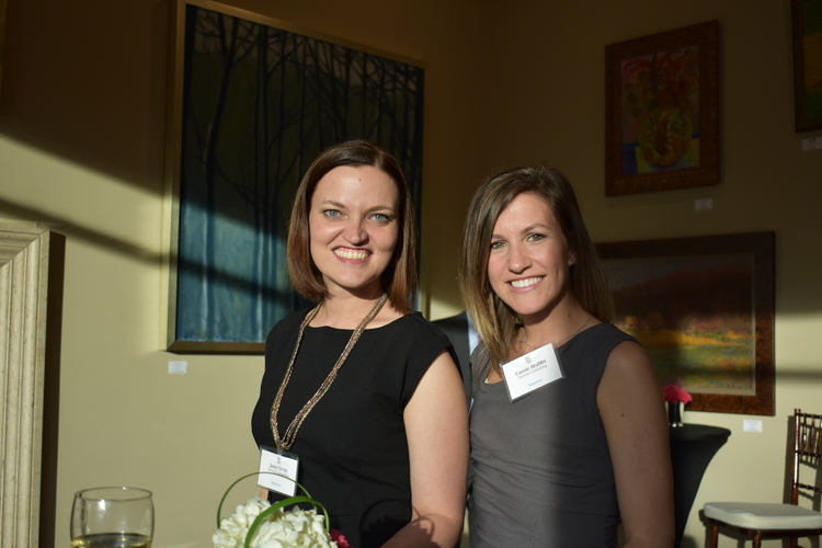 Janet Ervin and Cassie Brabbs of Torrent Consulting at the VIP reception before the Michigan Celebrates Small Business gala awards ceremony.