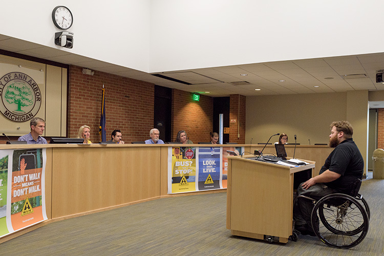 The May meeting of the Ann Arbor Commission on Disability Issues